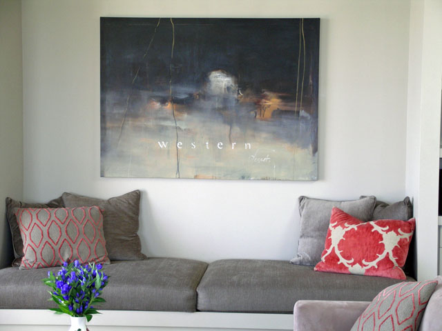 Built in seating is a good way to add interest and another zone to a room.