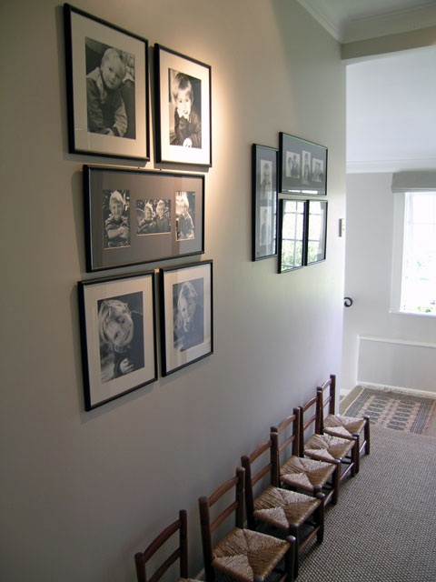 Empty those boxes and hang 'em up to make the hallway an interesting space.